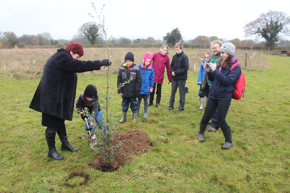2016 Birthday Tree planting ATUs 5th Queens 90th Capability Browns 300th.JPG