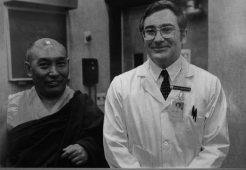 """Beliefs can be a major source of illness and a major force in treatment."" - - Herbert Benson, M.D., Timeless HealingArchive photo of Dr. Herbert Benson (right) pictured with the Dalai Lama's personal physician, Dr. Yeshi Dondon.Source: boston.com"