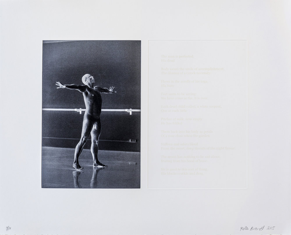 - 31. PRICE: € (EUR) 300. Peter Brandt. Edge, 2015. Photogravure (photo and edited poem by Sylvia Plath). Edition 10.