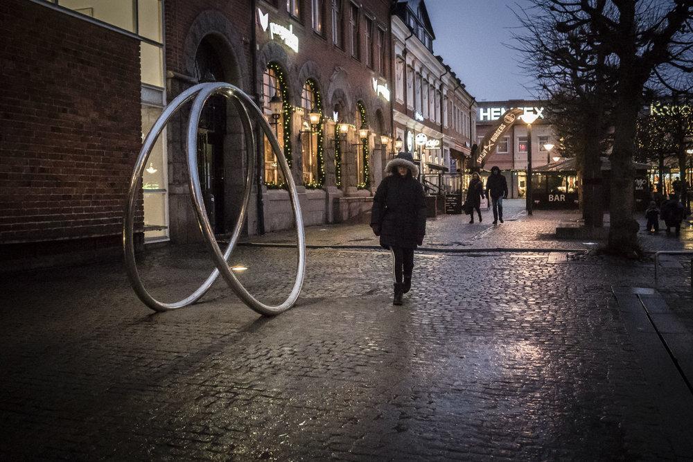Molly Haslund. Magic Circles, 2018. Mårtenstorget, Lund, Sweden.