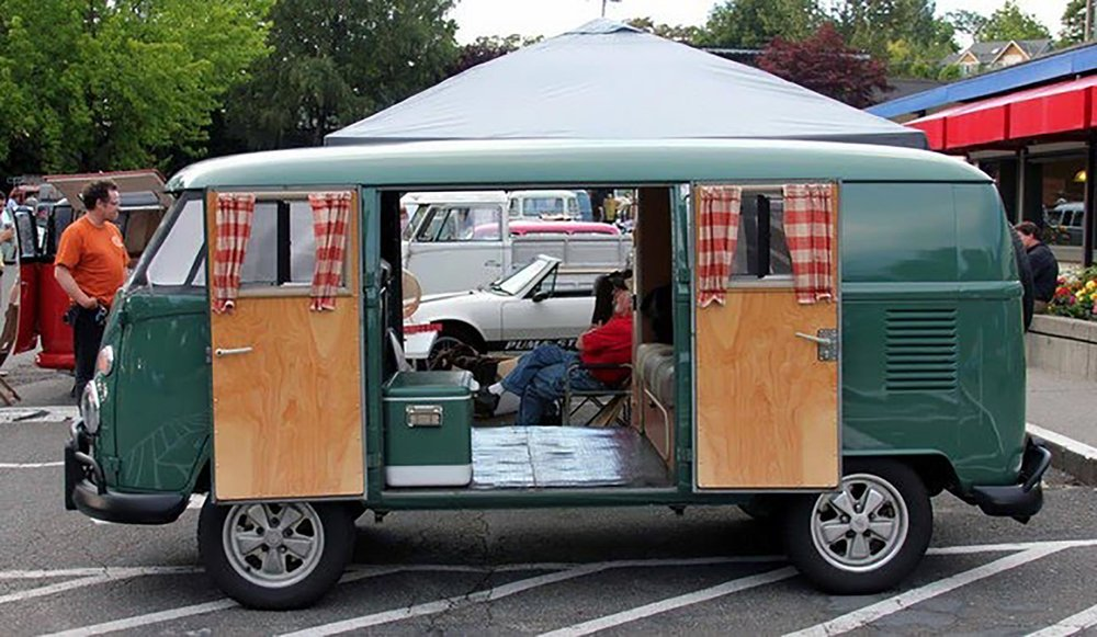 '64 Volkswagen Type-II double-door camper