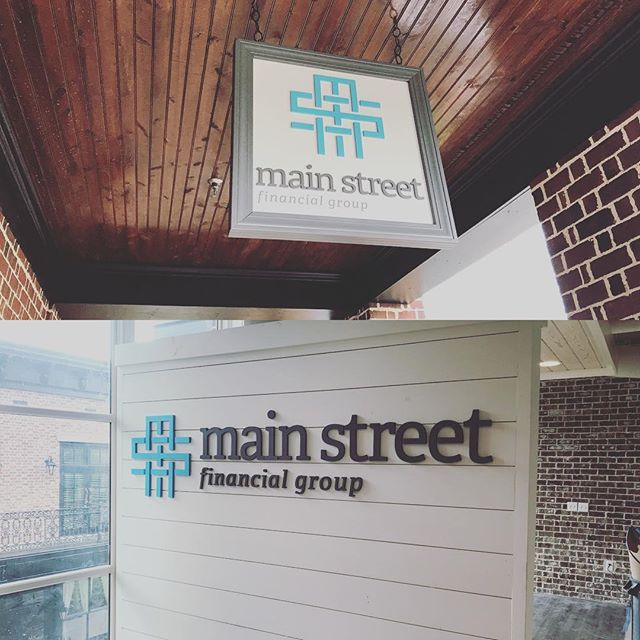 Another busy week here in sign world. Check out Main Street financial in Milton! #signs #flatcutletters #miltonga #crabapplemarketga