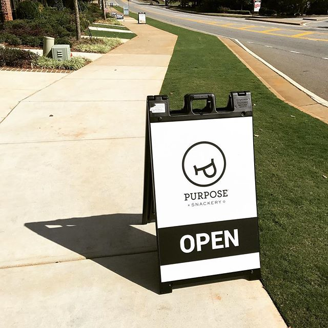 Need an a-frame sign for your business? We have great deals and quick delivery! Liveforsigns.com #alpharetta #miltonga #signs #advertising #largeformat