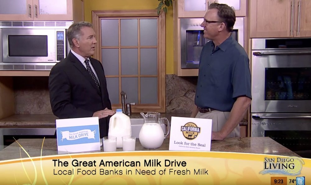 San Diego Living featuring California Milk Advisory Board with Frank Konyn .