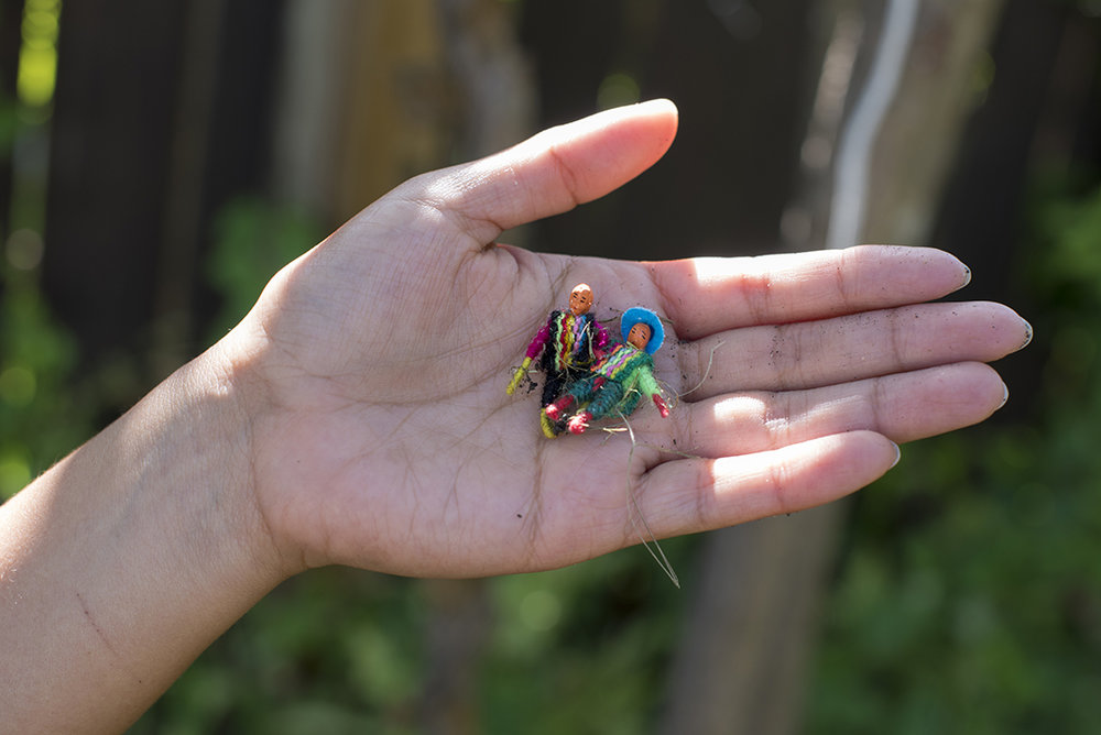 """Stephanie Concepcion Ramirez     For those seeking… (Aid & Success)   2018  Twelve 1"""" gifted worry-dolls with twelve intentions"""