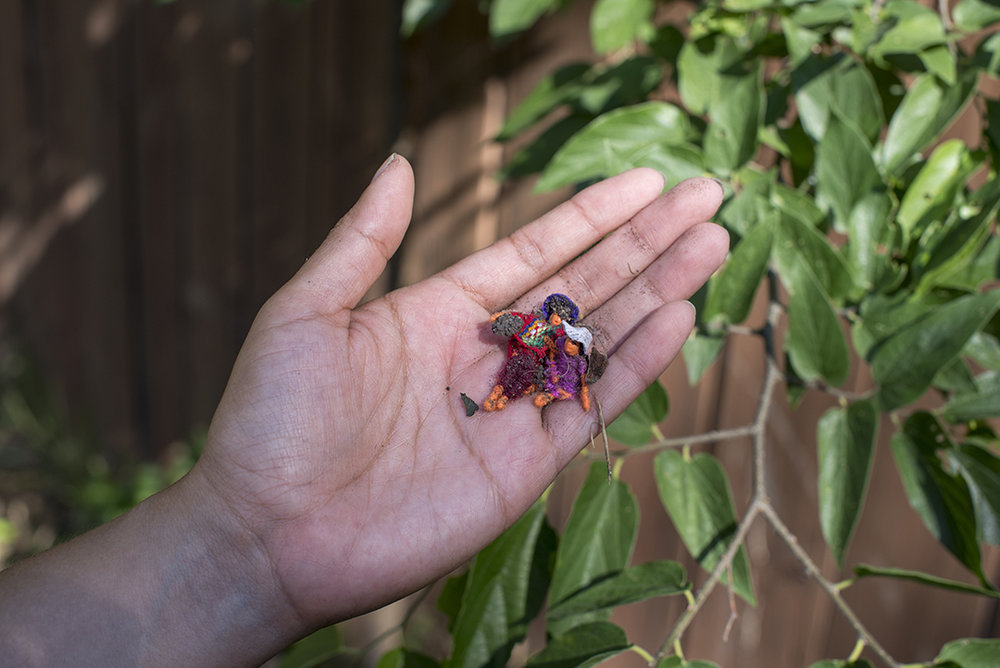 """Stephanie Concepcion Ramirez     For those seeking… (A Savior and Health)   2018  Twelve 1"""" gifted worry-dolls with twelve intentions"""
