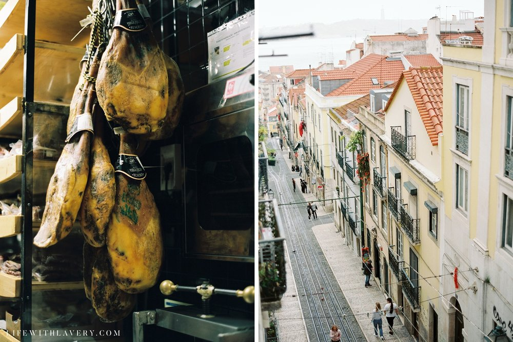 Left: Vendor at TimeOut; Right: View from our Airbnb