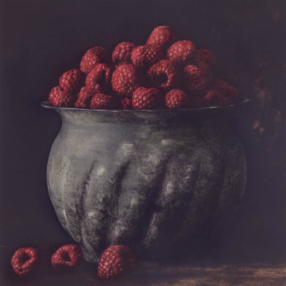 Pot of Raspberries