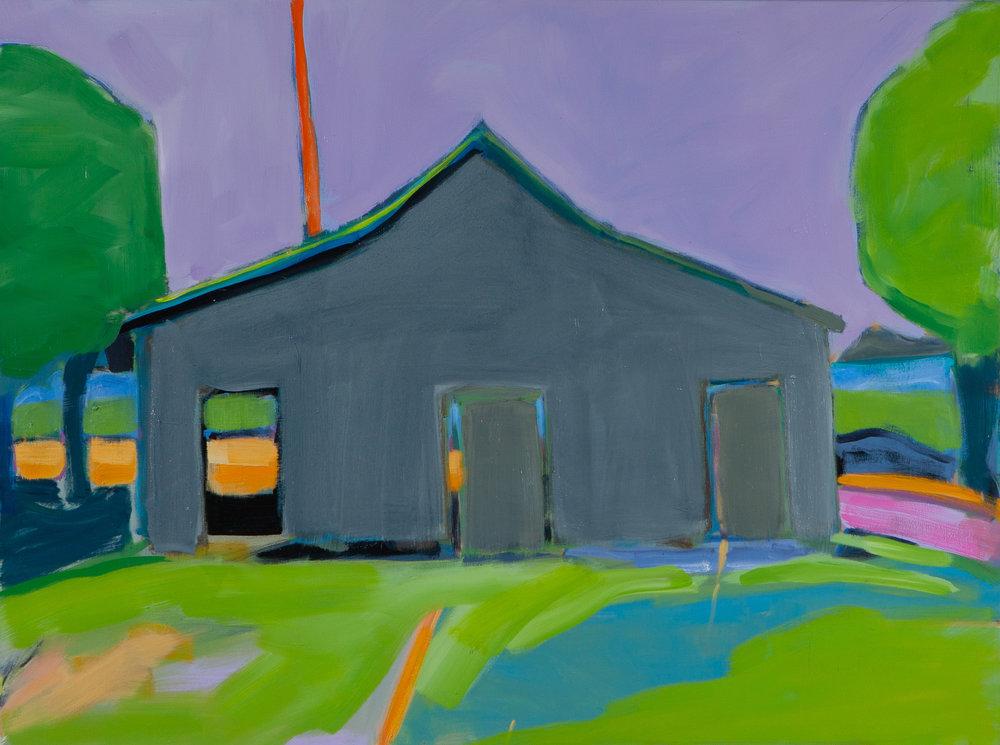 The Grey Barn,  30 x 40, oil on canvas