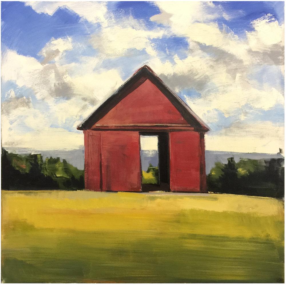 Red Barn, 48 x 48