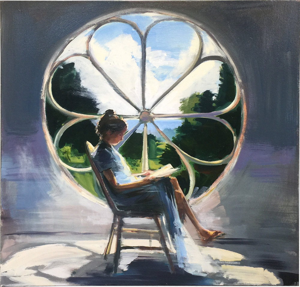 Rose Window  oil on canvas 40 x 40 inches