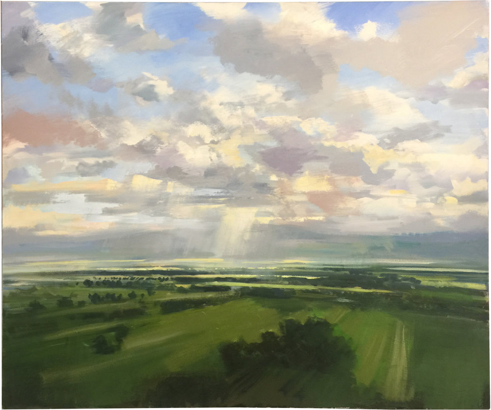 Valley Light  oil on canvas 44 x 54 inches