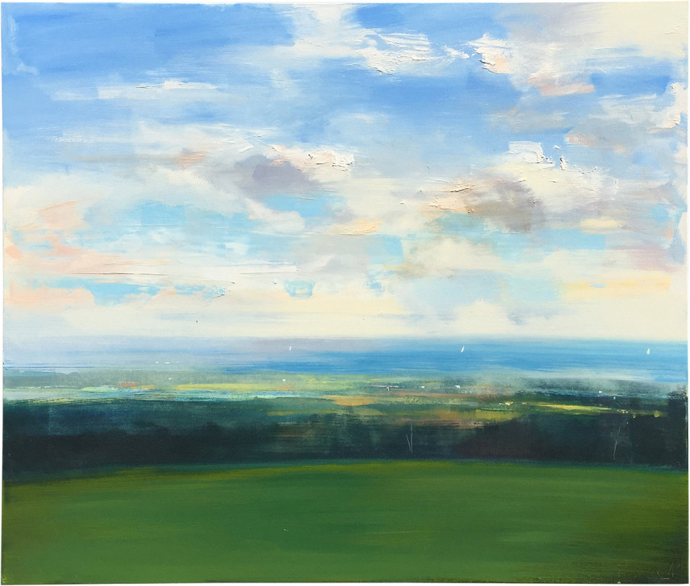 Blue Horizon  oil on canvas 48 x 60 inches