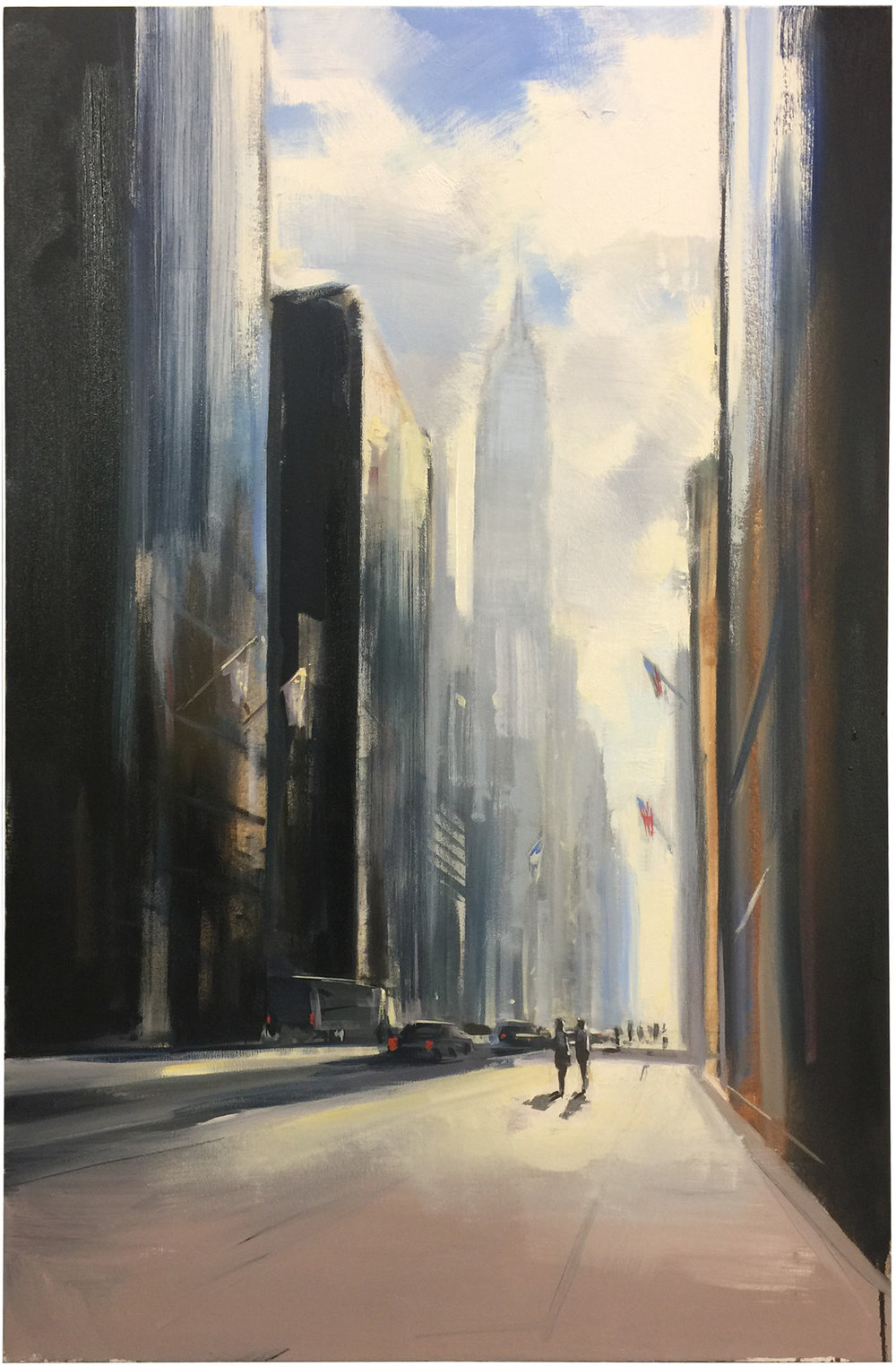 City Shadows oil on canvas 52 x 34 inches