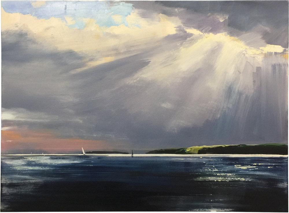 Leeward Light  oil on canvas 34 x 46 inches