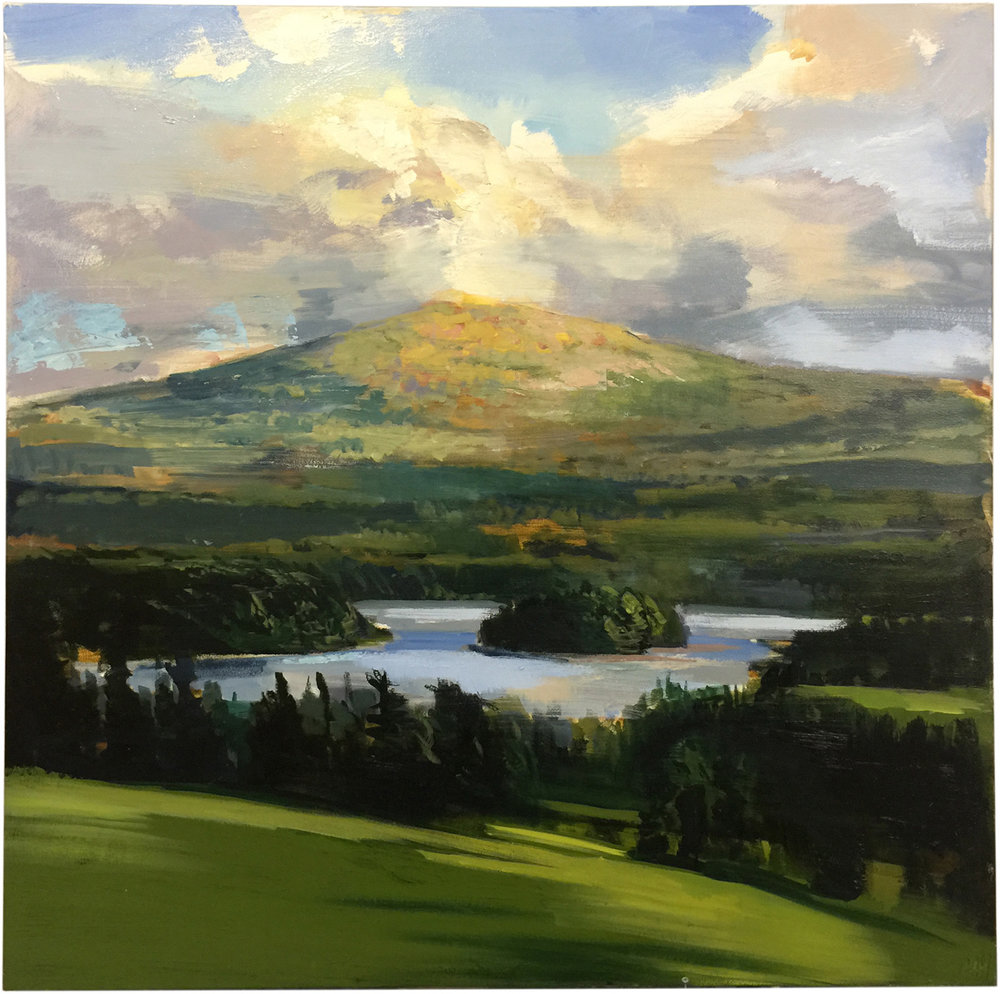 Mountain Lake, 48 x 48