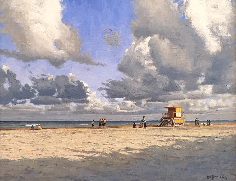Lifeguard Stand II  oil on canvas 16 x 20 inches
