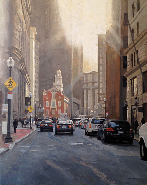 Old Statehouse  oil on canvas 30 x 24 inches