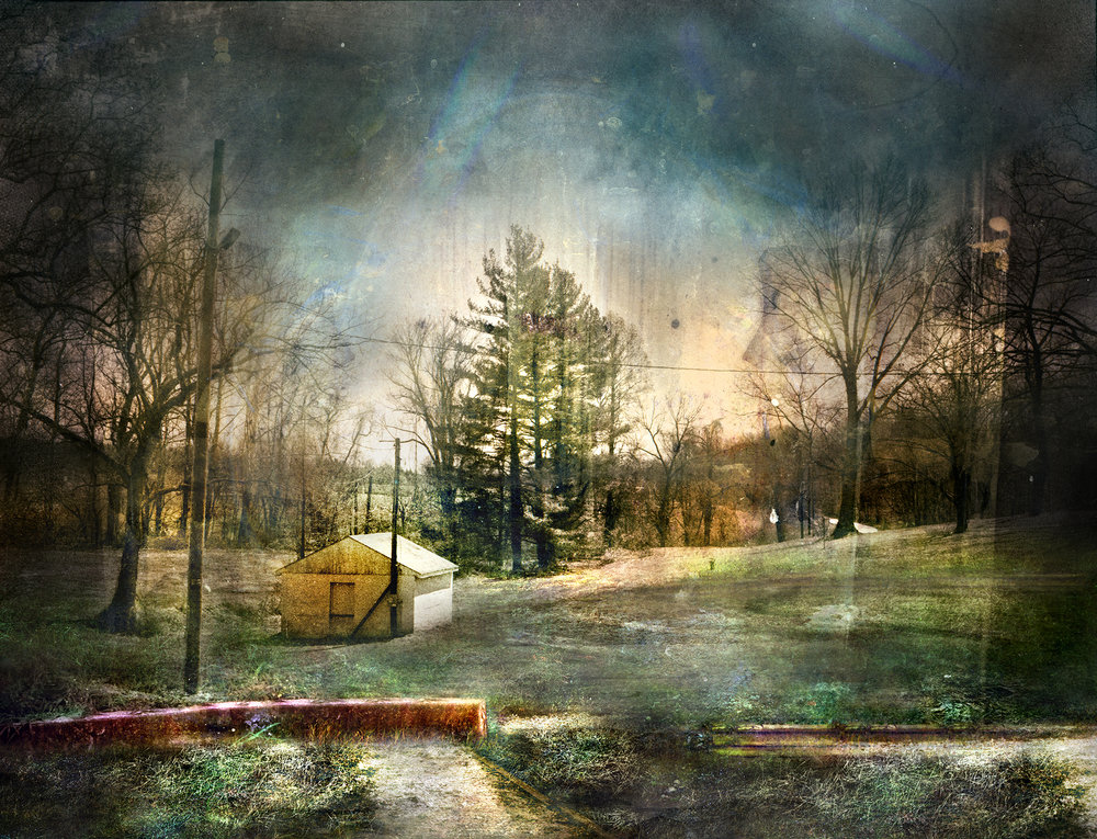 Colora Landscape  mixed media on panel 48 x 62 inches
