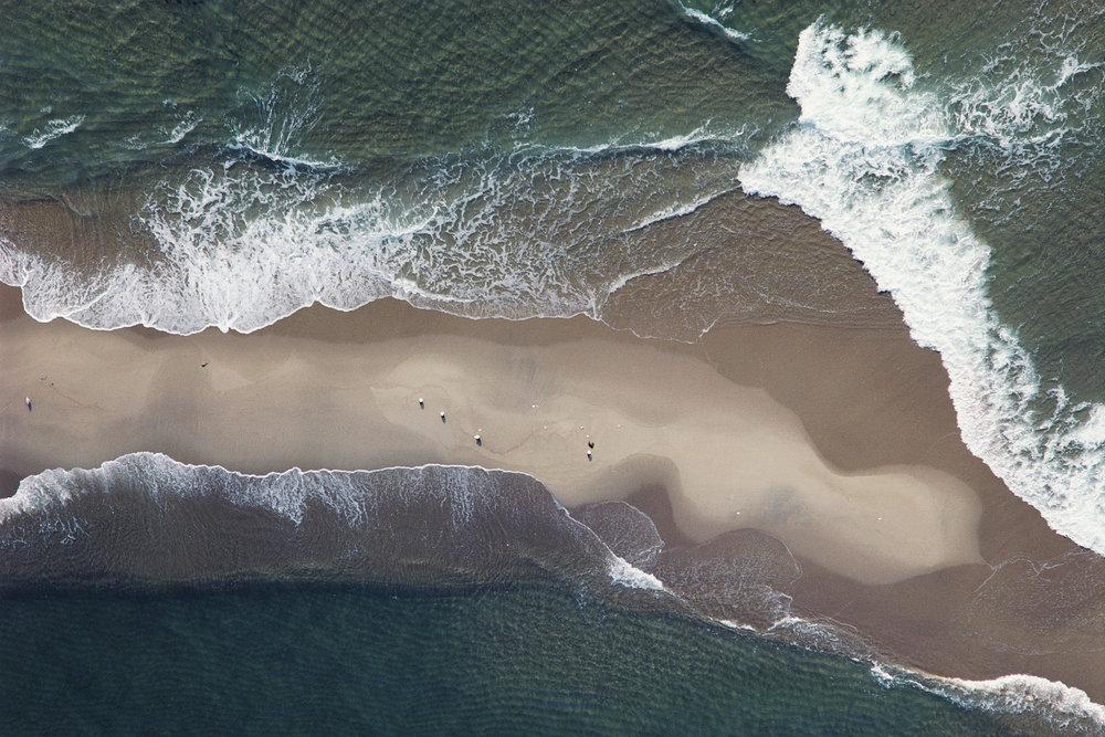John Griebsch -  Sand Bar, Waves, and Seagulls, Off Vineyard