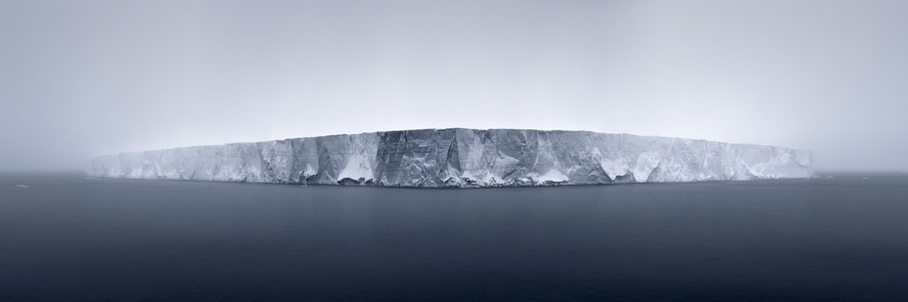 Giant Tabular Iceberg in Fog Antarctica, 2007