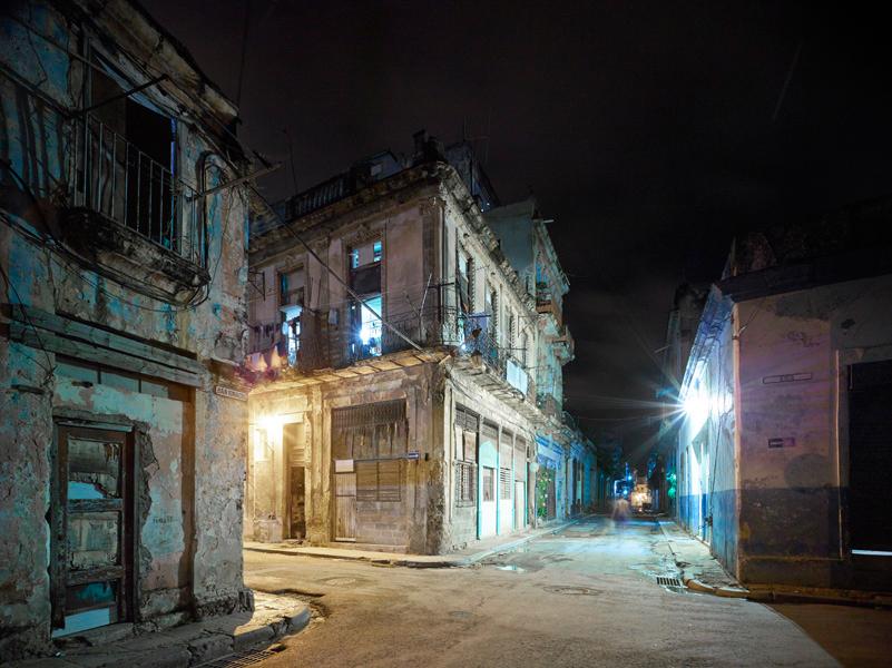Old hava corner (night), Havanna, Cuba, 2014