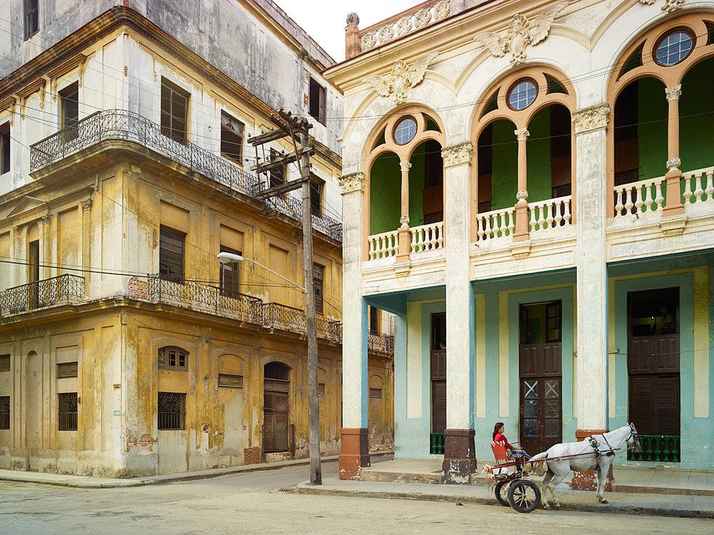 Street Corner with Horse, Havanna, Cuba, 2014