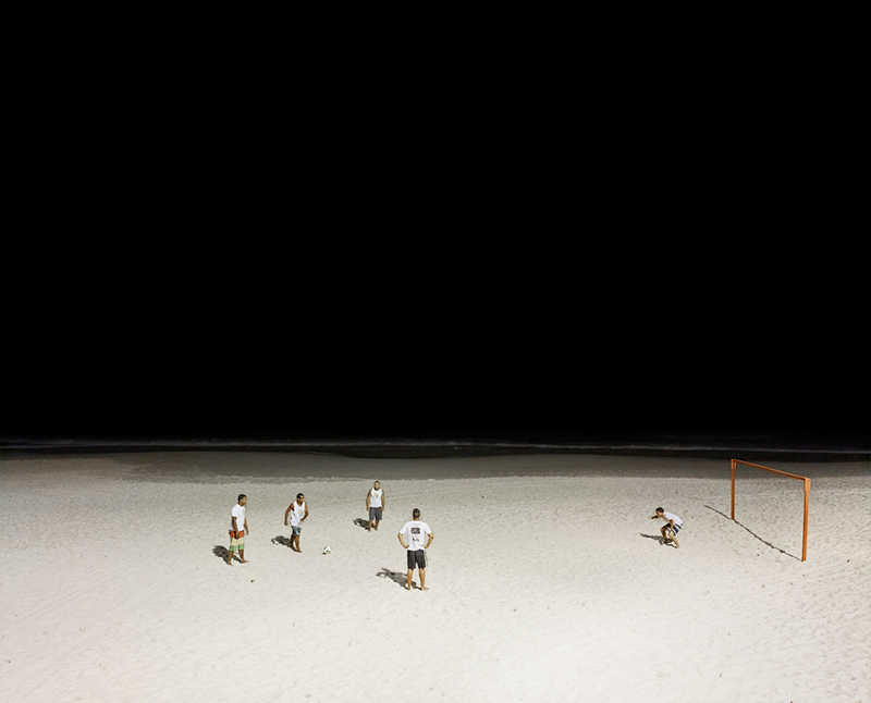 Soccer Match, Copacabana Beach, Rio de Janeiro, Brazil, 2013