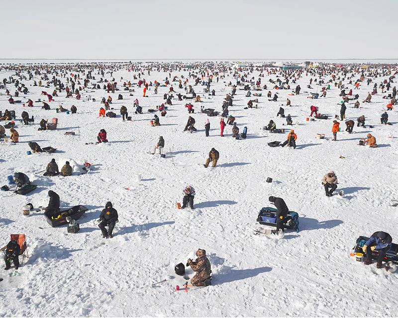 Ice Fishing, Brainerd, Minnesota, 2014,