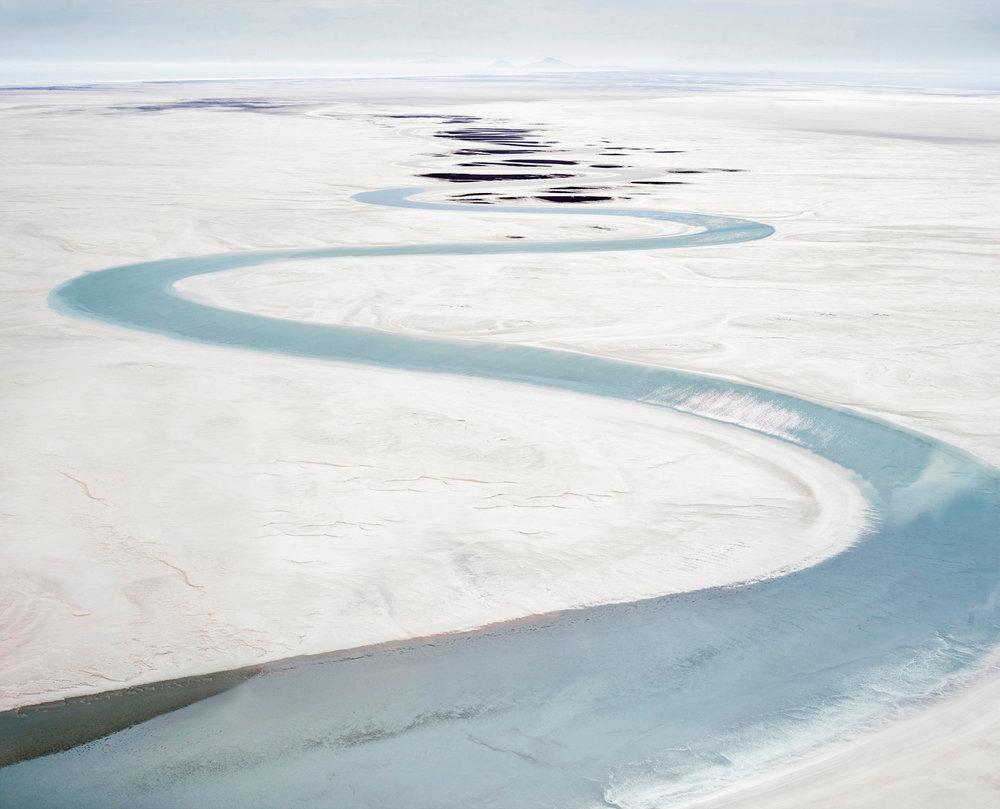 Salt Flat & Stream, Sea of Cortez, Mexico, 2016