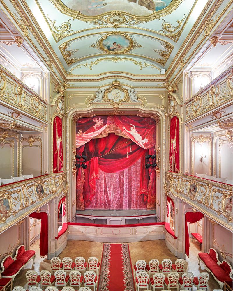 Theatre Curtain, Yusupov Palace, St Petersburg Russia, 2015