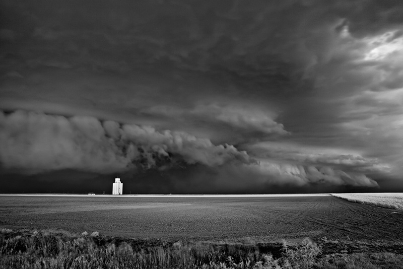 Storm Approaching Silo