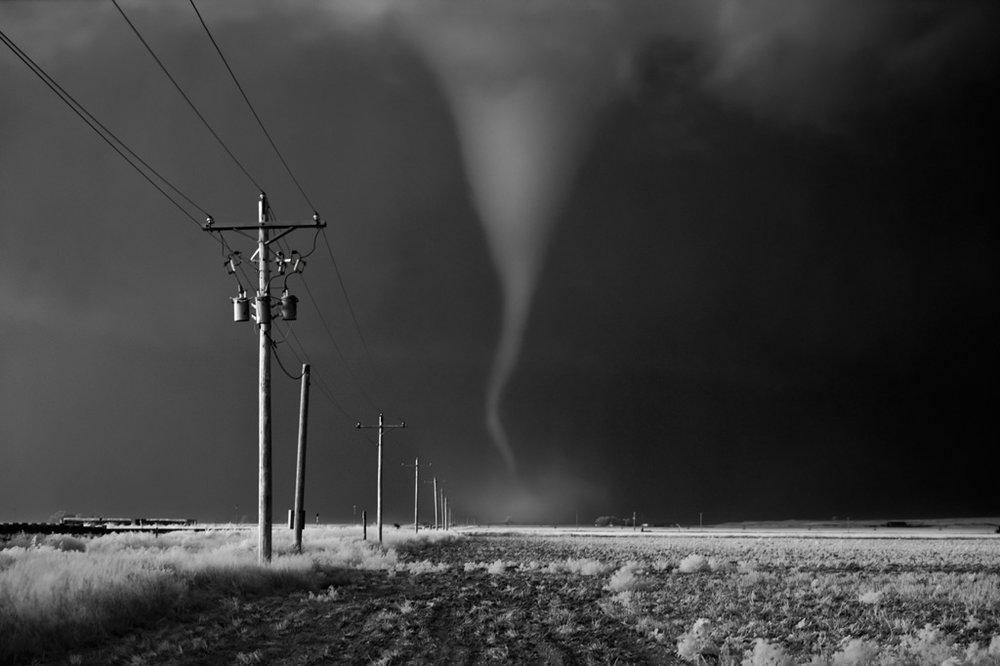 Tornado Crossing Power Poles