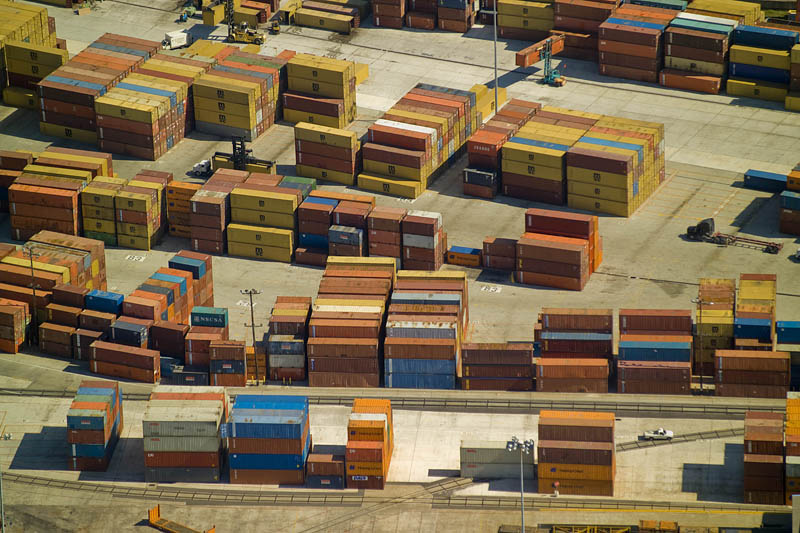 Shipping Containers - Mississippi River near New Orleans, LA