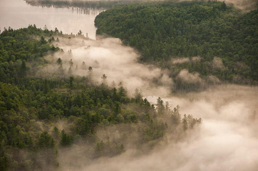 Saranac River Valley Fog near Bloomingdale, NY