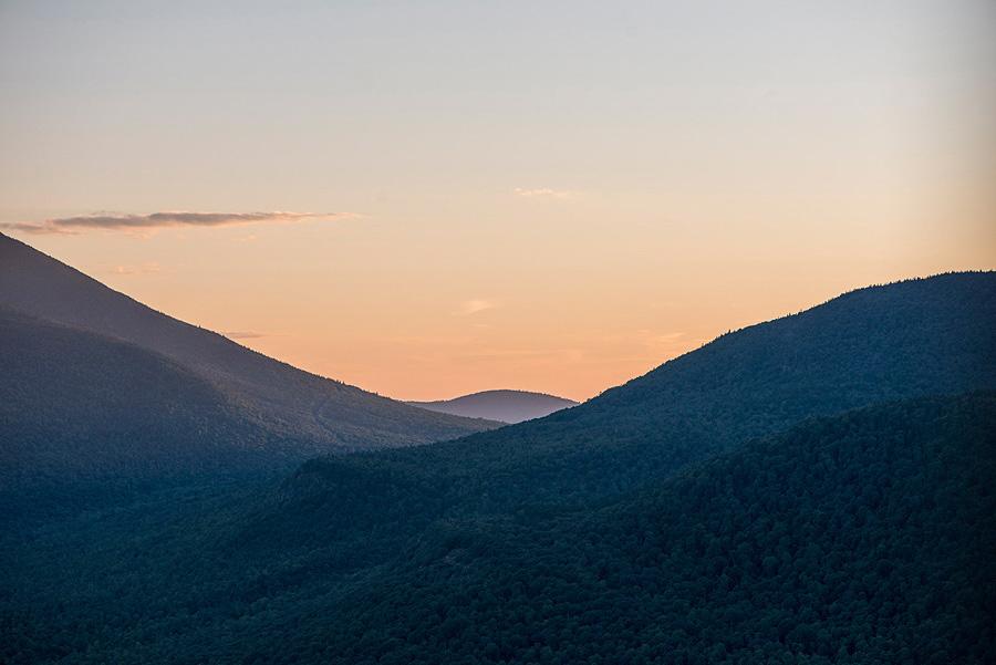Soft Mountain Sunset near Lake Placid, NY