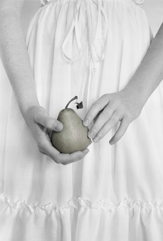 Hands and Pear