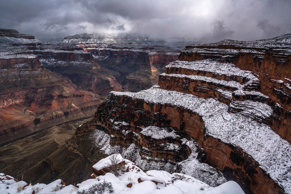 Snow Rimmed Grand Canyon