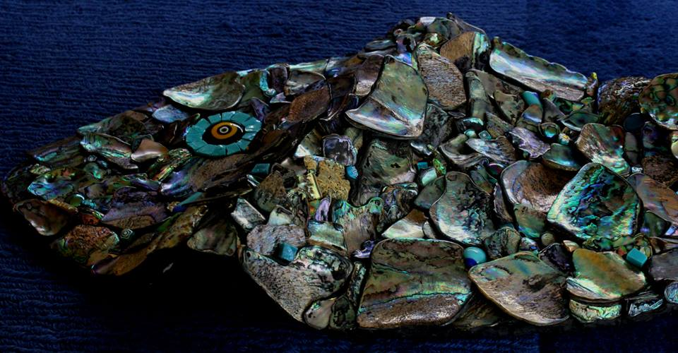 Detail of Paua Fish (Wave structure)