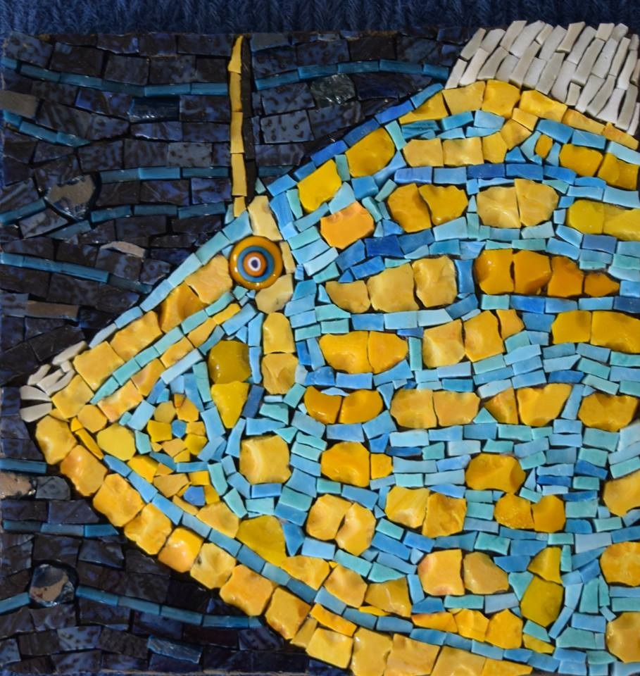 Mosaic Leatherjacket (Smalti, Glass Fusion)