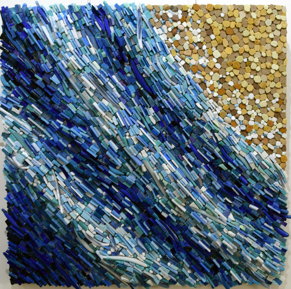 The Shore (Smalti, Glass Fusions, Cinca Porcelain, Stained Glass, Glass Tiles)