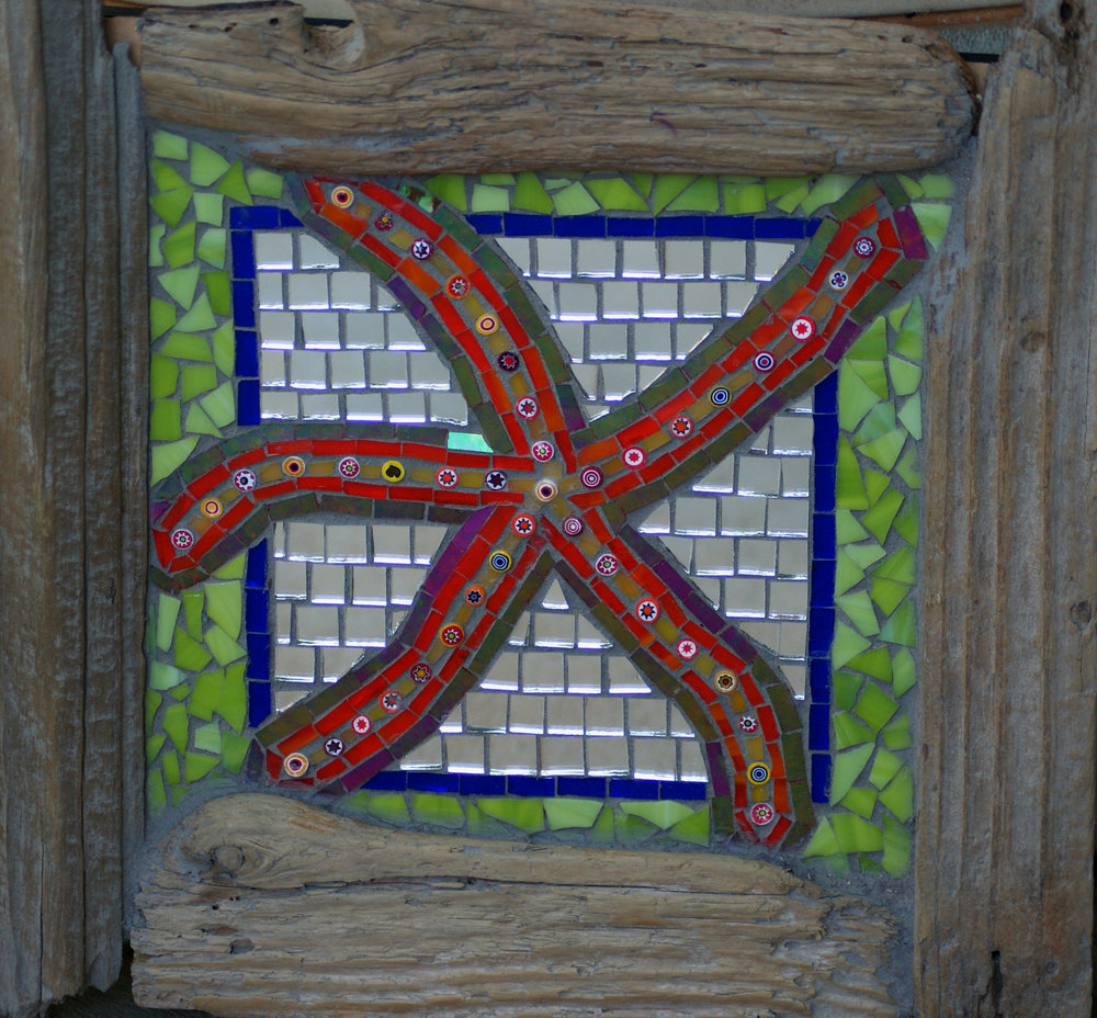 SeaStar with Drift Frame (Mirror, Millefiori, Stained Glass)
