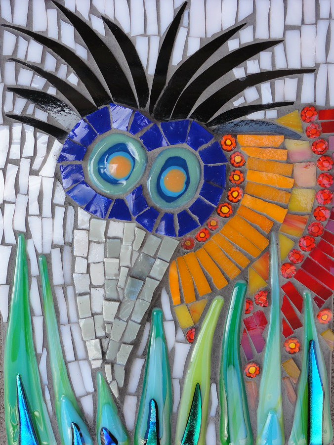 Africano Bird (Smalti, Stained Glass, Millefiori, Ceramic Shapes, Glass Fusions, Glass Tiles)