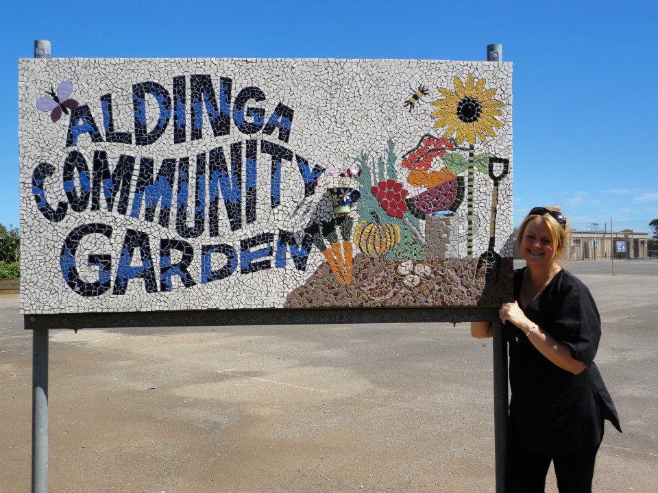 Aldinga Community Garden sign
