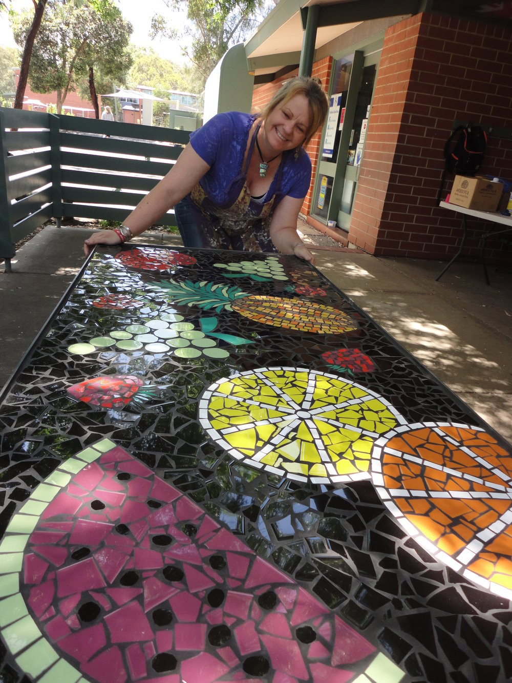 Stradbroke Primary School Fruit Table upon completion