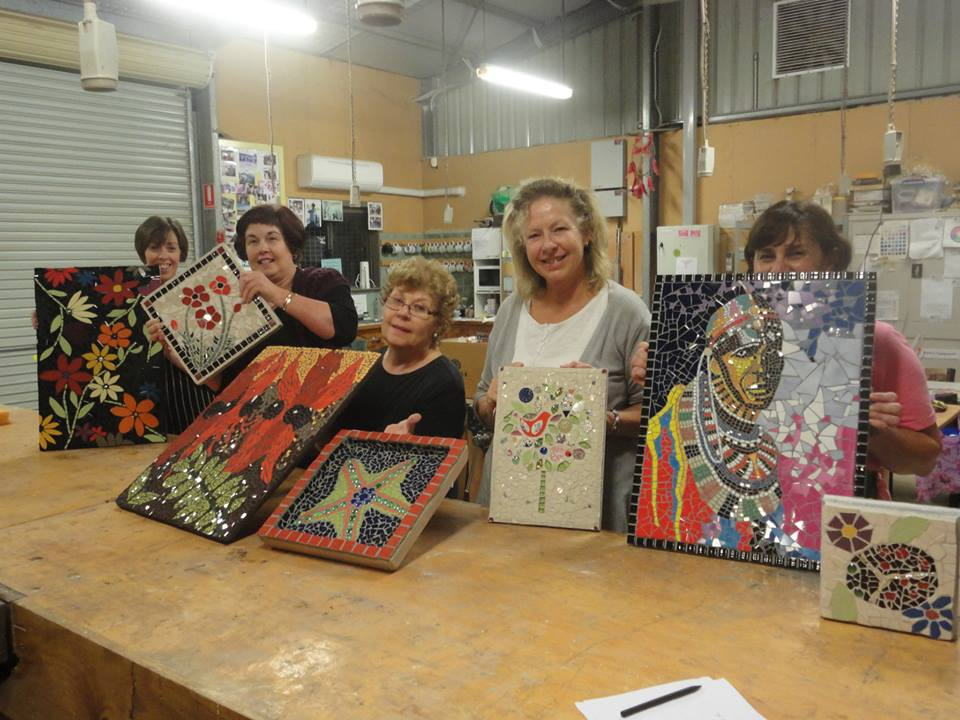 Students work at Aldinga Community Centre, Aldinga Beach, South Australia