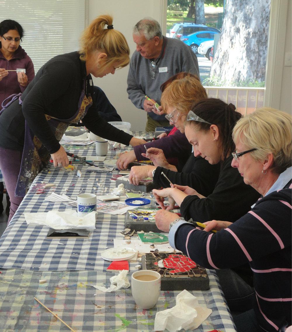 Carol Teaching beginners at Coromandel Valley Community Centre