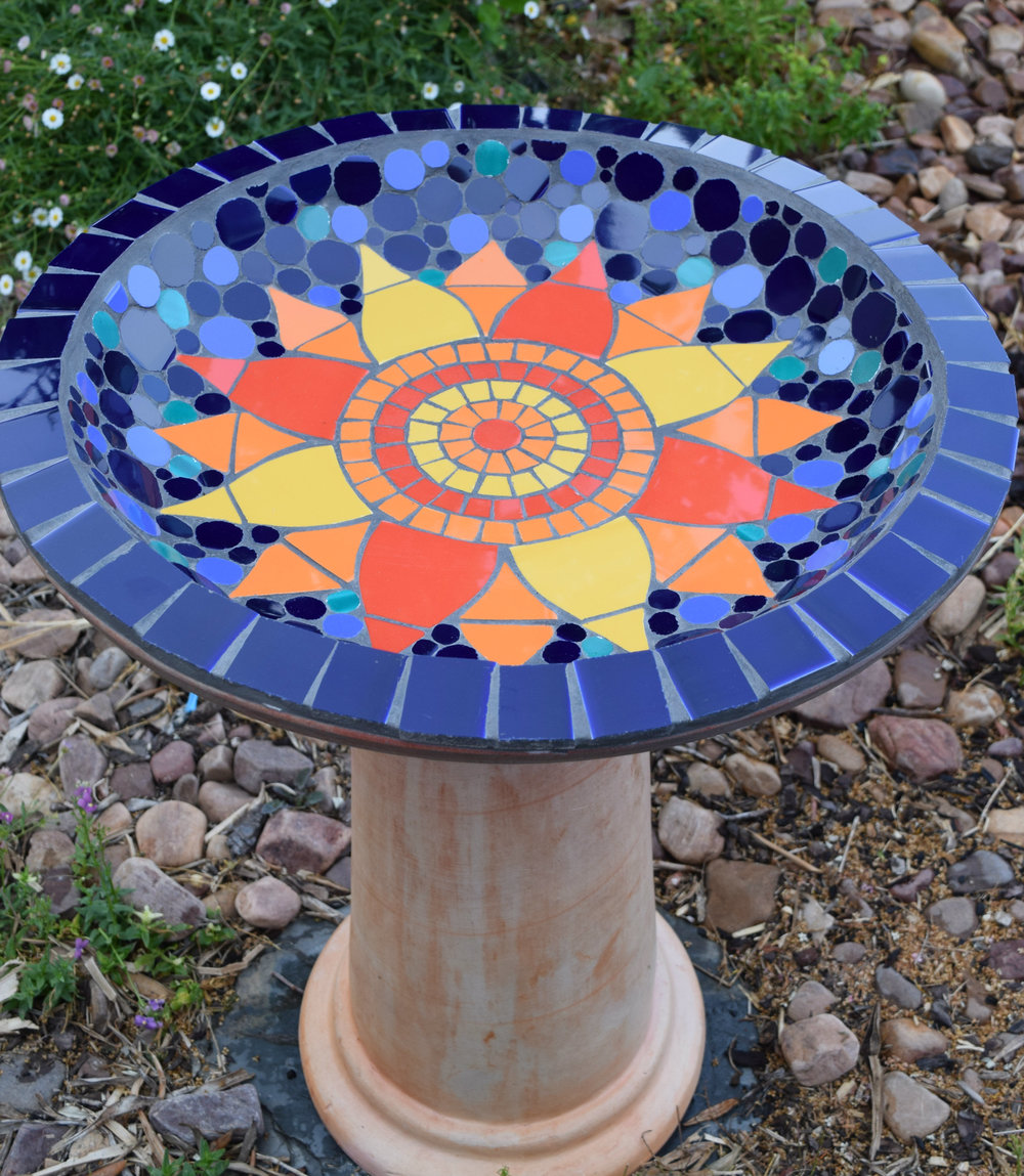 Flower Birdbath (Commission) (Ceramic)