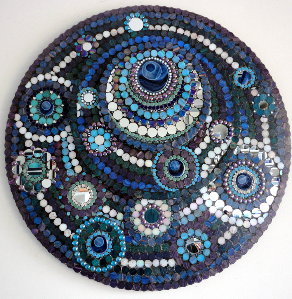 Eternity (Glass Tiles, Mirror, Millefiori, Ceramic, Glass Fusions, Beads)