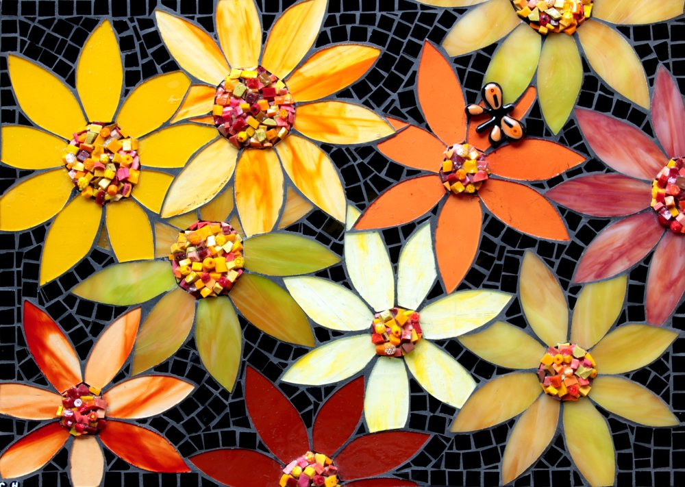 Floriana (Stained Glass, Glass Fusion, Smalti Chips)